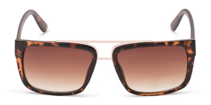 Front of Henley #5326 in Tortoise Frame with Amber Lenses