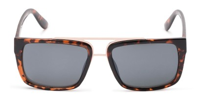 Front of Henley #5326 in Tortoise Frame with Grey Lenses