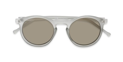 Folded of Hoffman #9728 in Frosted Grey Frame with Gold Mirrored Lenses