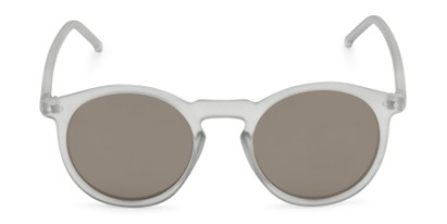 Front of Hoffman #9728 in Frosted Grey Frame with Gold Mirrored Lenses