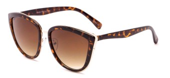 Angle of Honey #6040 in Tortoise Frame with Amber Lenses, Women's Cat Eye Sunglasses