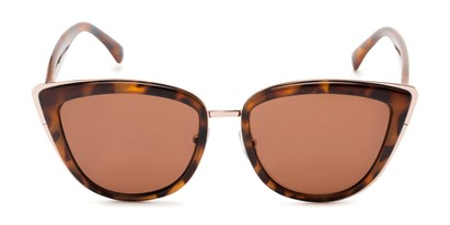 Front of Honey #6040 in Light Tortoise Frame with Amber Lenses