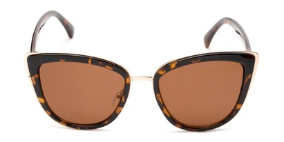 Front of Honey #6040 in Tortoise Frame with Amber Lenses