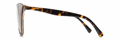 Side of Honey #6040 in Tortoise Frame with Amber Lenses