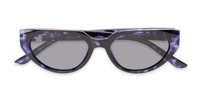 Folded of Honolulu #1637 in Blue Tortoise Frame with Smoke Lenses