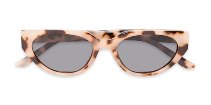 Folded of Honolulu #1637 in Tan Tortoise Frame with Smoke Lenses