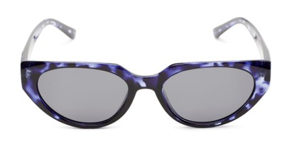 Front of Honolulu #1637 in Blue Tortoise Frame with Smoke Lenses