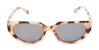 Front of Honolulu #1637 in Tan Tortoise Frame with Smoke Lenses