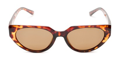 Front of Honolulu #1637 in Brown Tortoise Frame with Amber Lenses