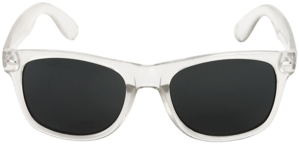 Frosted Clear Frame Wayfarer Style Sunglasses