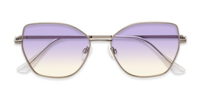 Folded of Indigo #6911 in Grey Frame with Purple Gradient Lenses