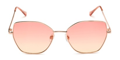Front of Indigo #6911 in Gold Frame with Pink/Yellow Gradient Lenses