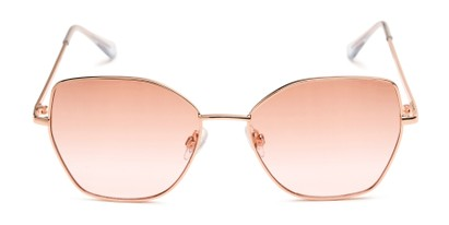 Front of Indigo #6911 in Gold Frame with Pink Fade Gradient Lenses