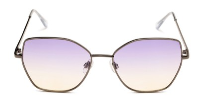 Front of Indigo #6911 in Grey Frame with Purple Gradient Lenses