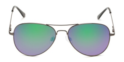 Front of Island #1510 in Grey Frame with Green/Pink Gradient Mirror Lenses