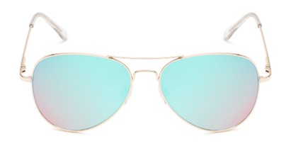 Front of Island #1510 in Gold Frame with Blue/Pink Gradient Mirror Lenses