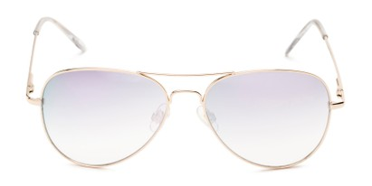 Front of Island #1510 in Gold Frame with Pink/Silver Gradient Mirror Lenses