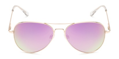 Front of Island #1510 in Gold Frame with Purple/Green Gradient Mirror Lenses