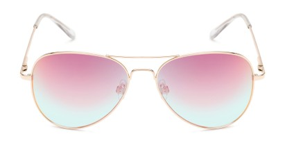 Front of Island #1510 in Gold Frame with Pink/Blue Gradient Mirror Lenses