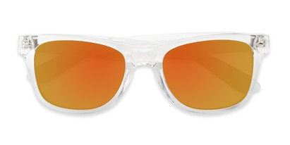 clear retro square mirrored lenses