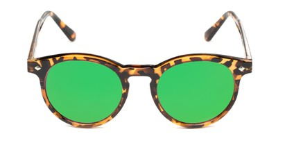 Front of Jagger #2024 in Tortoise Frame with Neon Green Lenses