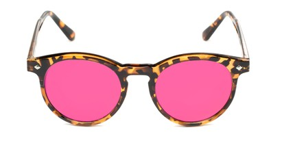 Front of Jagger #2024 in Tortoise Frame with Electric Pink Lenses