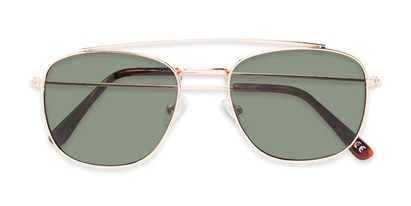 Folded of James #4372 in Gold Frame with Green Lenses