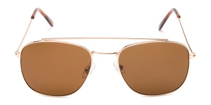 curved brow bar metal aviator UV sunglasses