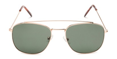 Front of James #4372 in Gold Frame with Green Lenses
