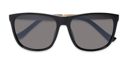 Folded of Jameson #54100 in Glossy Black Frame with Grey Lenses