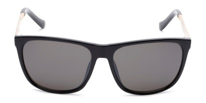 Front of Jameson #54100 in Glossy Black Frame with Grey Lenses