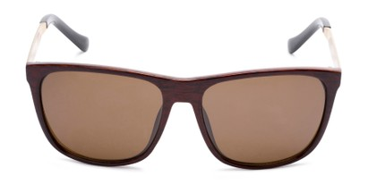 Front of Jameson #54100 in Glossy Faux Wood Frame with Amber Lenses