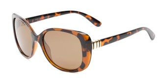 Angle of Jasmine #3446 in Brown Tortoise Frame with Amber Lenses, Women's Square Sunglasses