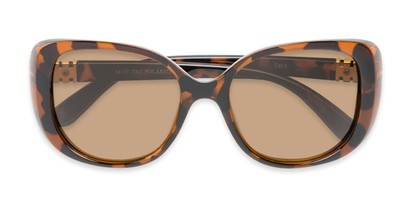 Folded of Jasmine #3446 in Brown Tortoise Frame with Amber Lenses