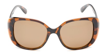 Front of Jasmine #3446 in Brown Tortoise Frame with Amber Lenses