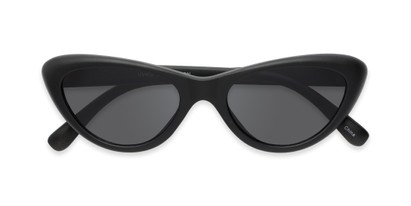 Folded of Jewels #7434 in Matte Black Frame with Grey Lenses