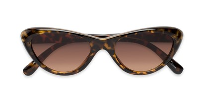 Folded of Jewels #7434 in Glossy Tortoise Frame with Amber Lenses