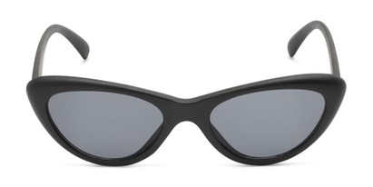 Front of Jewels #7434 in Matte Black Frame with Grey Lenses