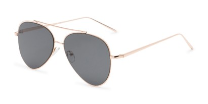 Angle of Jolt #3963 in Gold Frame with Grey Lenses, Women's and Men's Aviator Sunglasses