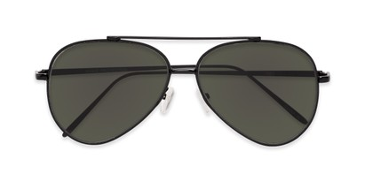 Folded of Jolt #3963 in Black Frame with Green Lenses
