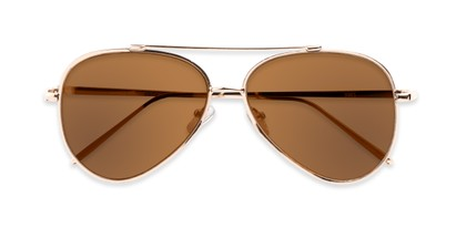 Folded of Jolt #3963 in Gold Frame with Amber Lenses
