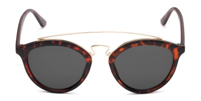 Front of Jones #7440 in Matte Tortoise Frame with Grey Lenses