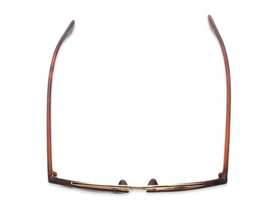 Overhead of Jones #7440 in Matte Tortoise Frame with Orange Mirrored Lenses