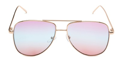 Front of Juno #3134 in Gold Frame with Purple/Blue/Pink Gradient Lenses