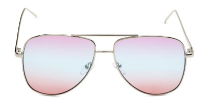 Front of Juno #3134 in Silver Frame with Purple/Blue/Pink Gradient Lenses