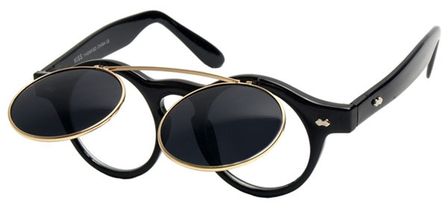 Eyeglass Frames Flip Up Sunglasses : Retro Flip-Up Sunglasses