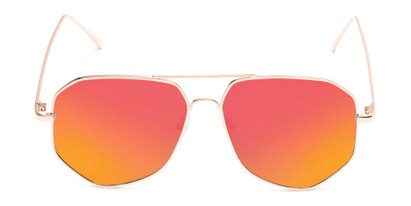 Front of Kendall #63072 in Gold Frame with Orange Mirrored Lenses