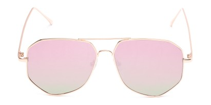 Front of Kendall #63072 in Gold Frame with Pink Mirrored Lenses