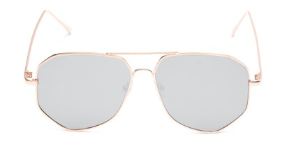 Front of Kendall #63072 in Gold Frame with Silver Mirrored Lenses