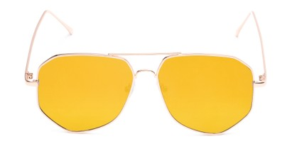 Front of Kendall #63072 in Gold Frame with Yellow Mirrored Lenses